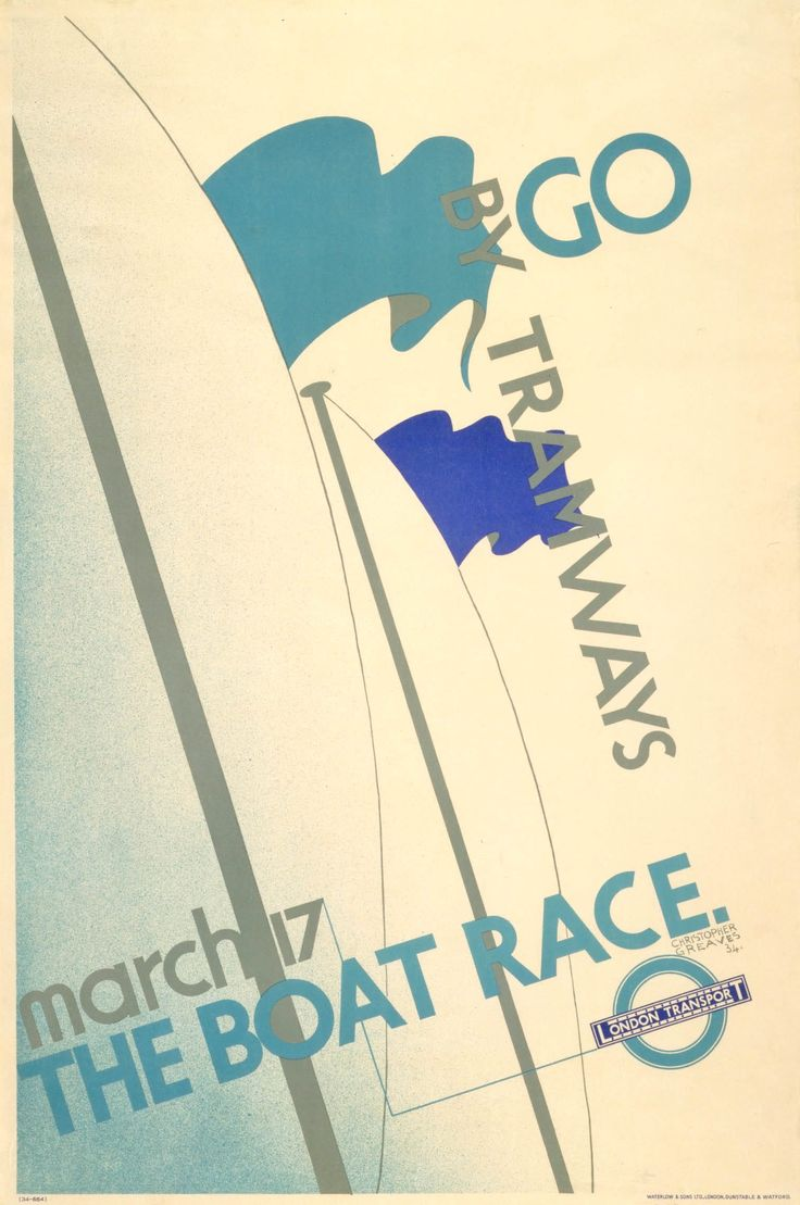 The Boat Race, by Christopher Greaves, 1934 -