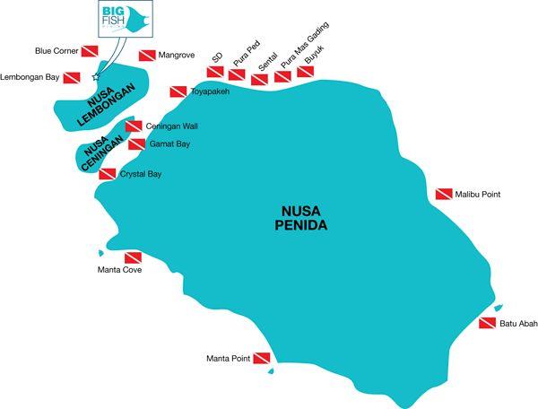Dive Sites of Nusa Lembongan and Penida Bali