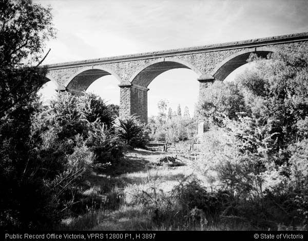 Malmsbury viaduct west side Nov 1945
