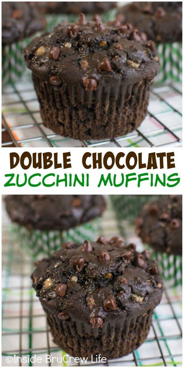 Chocolate chips and toffee makes these zucchini muffins a must make!!