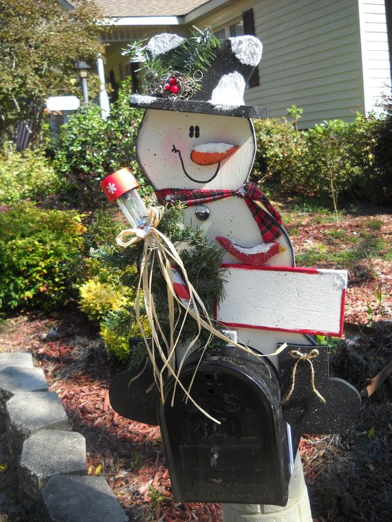 Snowman Mailbox Topper with Solar Light by marciaoliver on Etsy & 120 best diy mailbox decor images on Pinterest | Diy mailbox ...