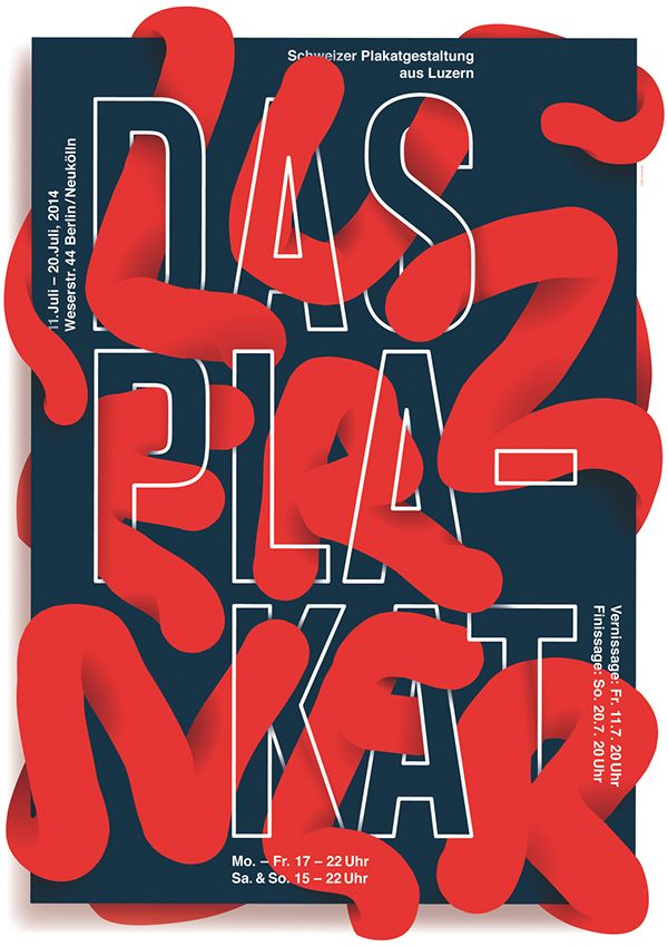 Josh Schaub – Swiss Poster Design from Lucern. International poster festival 2014.