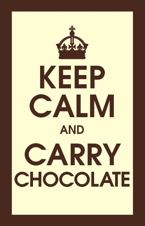 Keep Calm and Carry Chocolate Quote