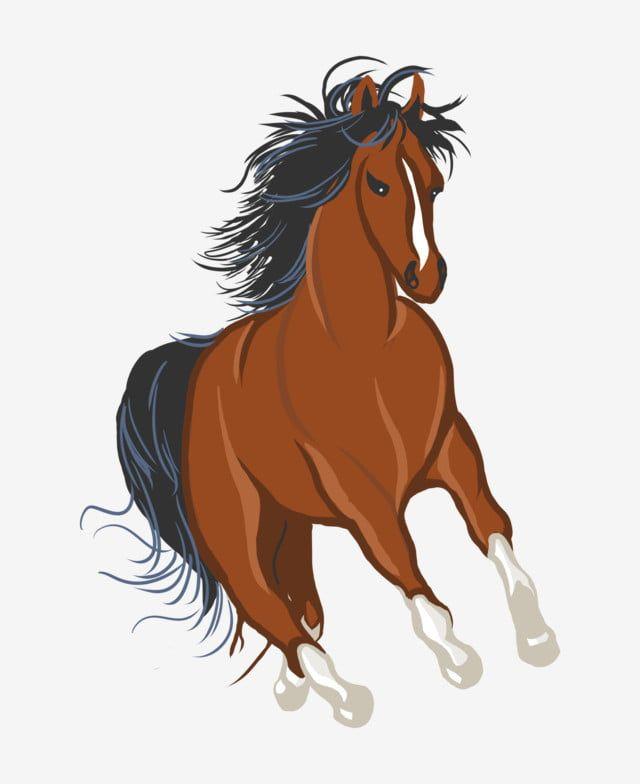 حصان مرسومة باليد حصان رسوم متحركة حصان مرسومة باليد رسوم متحركة حصان بنى محبوب Png وملف Psd للتحميل مجانا Horse Painting Horse Cartoon How To Draw Hands