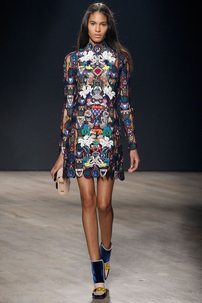 Mary Katrantzou LFW autumn-winter 2014/2015