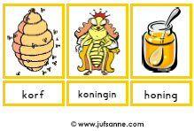 Juf Sanne Lesidee: Bijen woordkaarten
