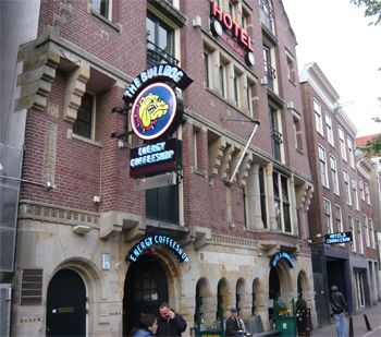 The Bulldog Hostel, Amsterdam, where Lindsey and I stayed during my first experience of the great city.
