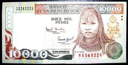 Embera Colombia Pesos Banknote 1994 10000 - $ 49.999 in MercadoLibre