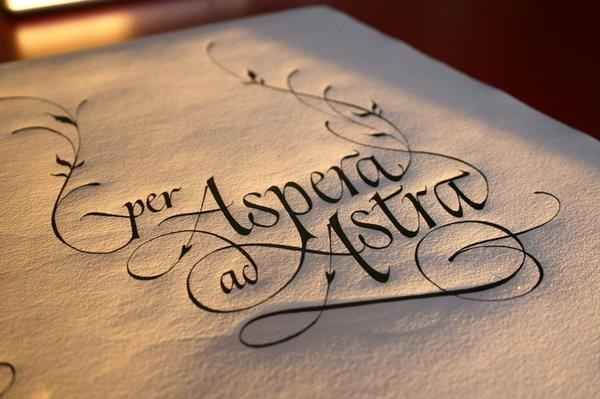 """Ad astra per aspera 