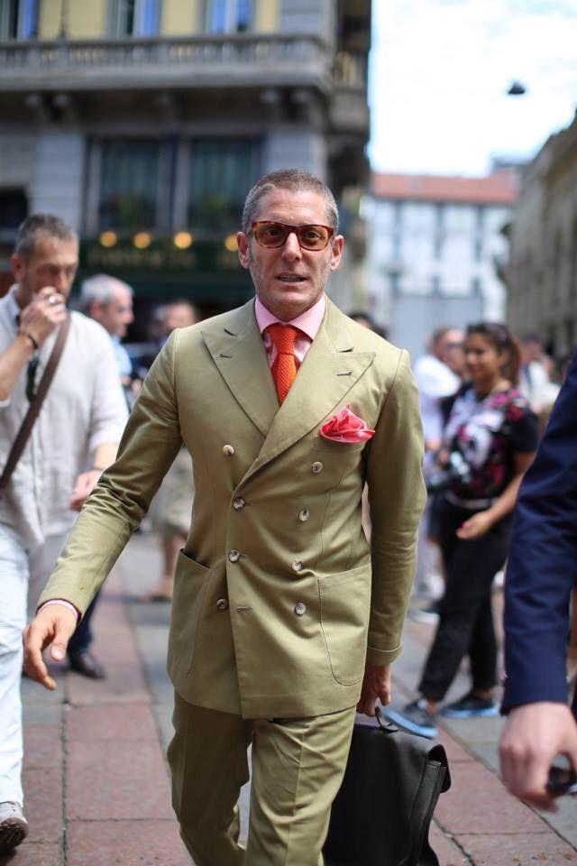 Beige Suit Lapo #streetstyle