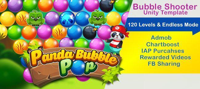 Panda Bubble pop is a testing riddle amusement like Panda Pop. This diversion is prepared to distribute by reskinning craftsmanship. It is completely incorporated with Ads, IAP, Rewarded recordings and with finish adaptation with Ads, Inapp buys and remunerated videos.Endless  In Puzzle mode you have 120 Addicting Levels to play with lovely illustrations. Perpetual mode from name it is clear you will continue playing the diversion and it will be a ceaseless enterprise