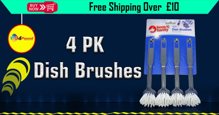 Spring Sale at #4pound. Buy Round Head Dish Brushes - 4 Pack Only at Low Price