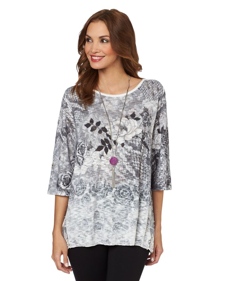 Northern Reflections - NEW - Textured  Rose and Lace Tunic, $79.00 (http://www.northernreflections.com/textured--rose-and-lace-tunic-458001429/)