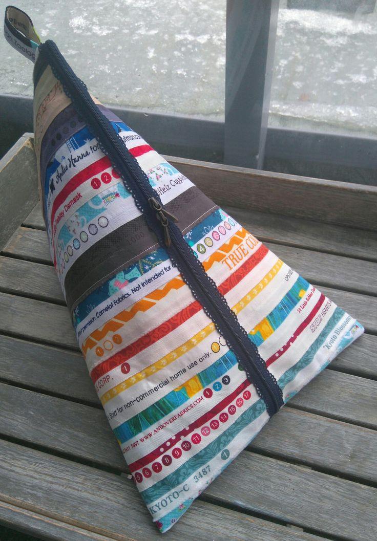 Tetra-vetoketjupussukka, kangas n. 35 x 50, vetoketju 35 cm, tarvitsee jämäkän, silitettävän tukikankaan tai ohuen vanun + vuorikangas. Maaliskuu 2017.