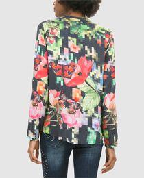 Blusa de mujer Desigual con efecto pixelado y manga larga