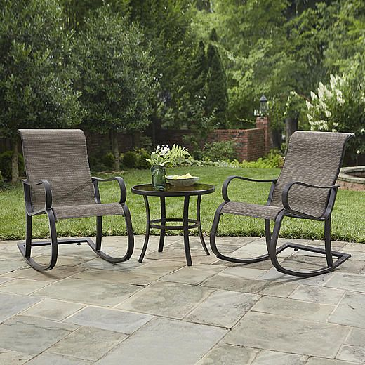 Jaclyn Smith Marion 3 Pc Rocker Bistro Set Part 80