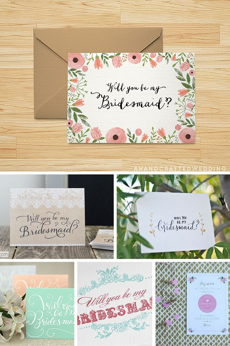 Ask your girlfriend to be you bridesmaid in style with these free, printable Will You Be My Bridesmaid? cards.