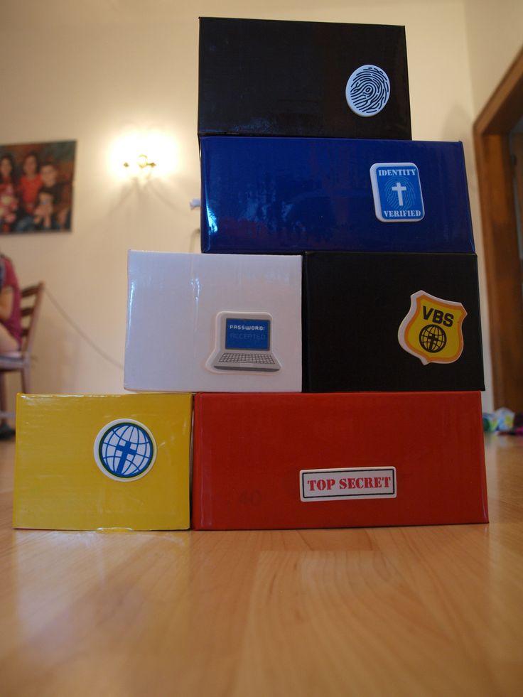 box na průkazky pro děti, po oddílech