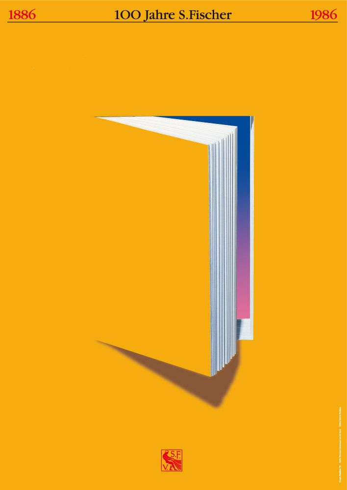 R emarkable book posters by German designer Gunter Rambow for S. Fischer Verlag