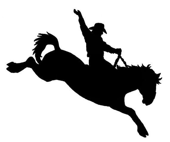 Saddle Bronc Riding Decal Sticker Original Designs For