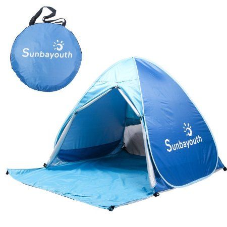 Beach Tent,Pop Up Tent Beach Umbrella, Easy Up Beach Tents, 90% UV Protection Sun Shelter, Beach Shade for Baby Image 1 of 4