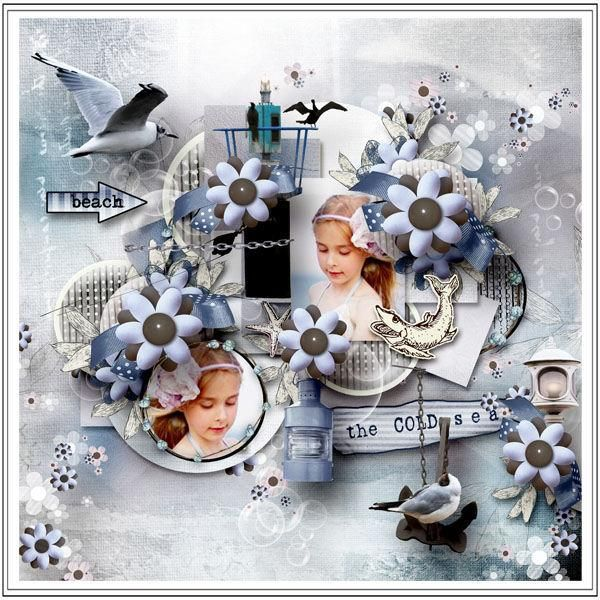 """Kit """"The Cold Sea"""" by Sekada https://www.digitalscrapbookingstudio.com/personal-use/kits/the-cold-sea-full-kit/ Photo by Mily photography"""