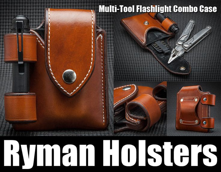 Ryman Multitool Flashlight Combo Case Leather