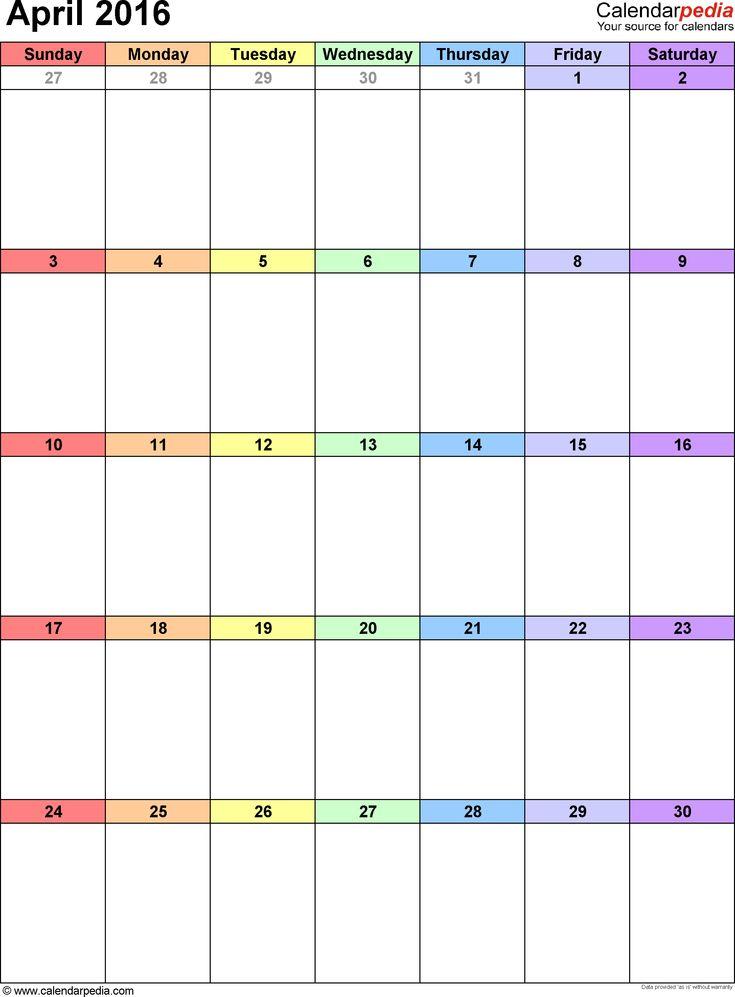 As 25 melhores ideias de 2016 calendar pdf no Pinterest - calendar template pdf