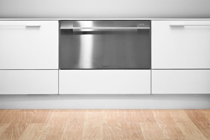 Fisher & Paykel DD36SDFTX2 Semi-Integrated Single DishDrawer with 9 Place Settings, 9 Cycles, Eco Option, 163 Degree Sanitizing Temperature, Delay Start, Adjustable Racks, ADA Compliant and Energy Star Rated: Stainless Steel