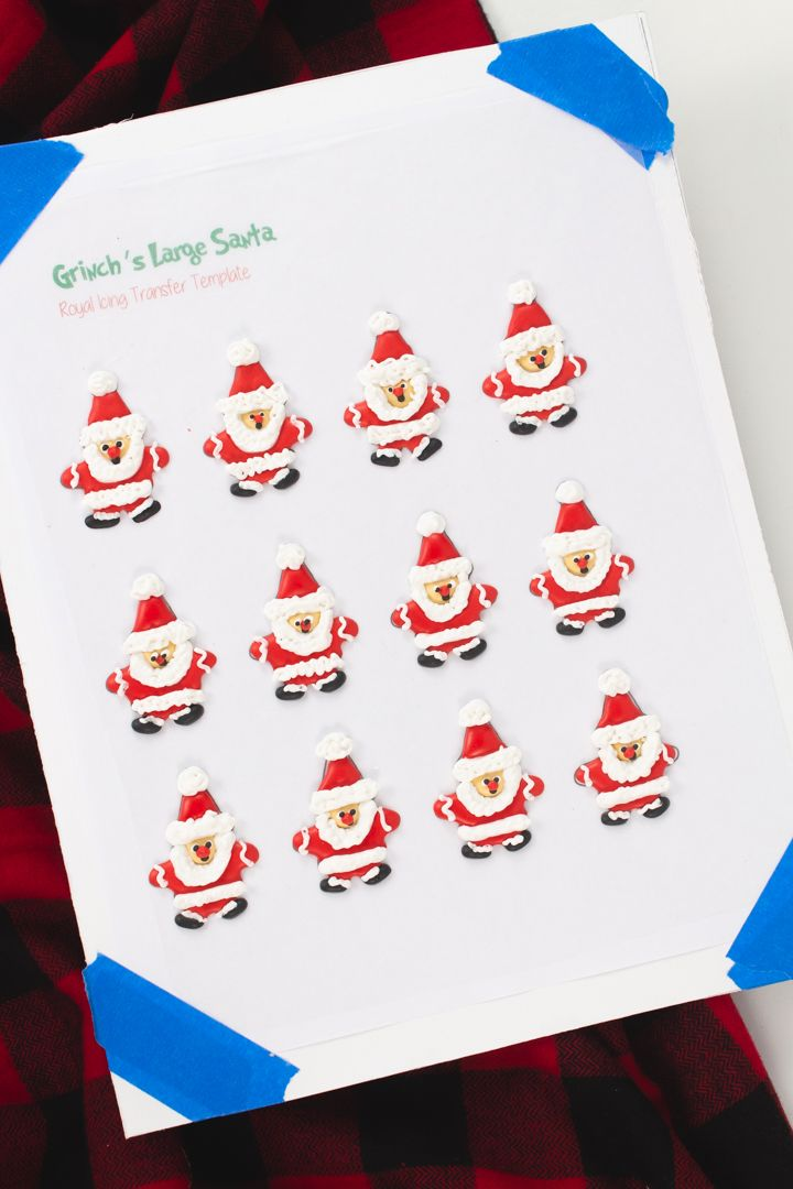 How To Make Fun Candy Like Grinch S Santa Cookies The Bearfoot Baker Best Candy Santa Cookies Royal Icing Templates