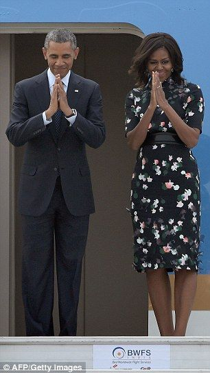 The president and Mrs Obama left India on Tuesday