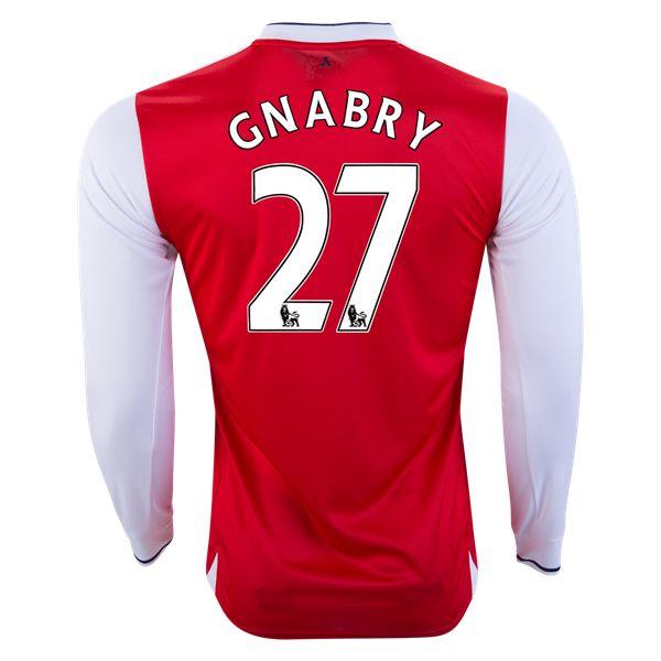 PUMA Serge Gnabry Arsenal Long Sleeve Home Jersey 16/17