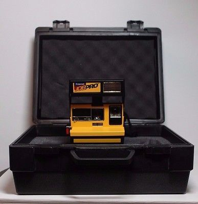 WORKING-Tested-NEW-Vintage-Yellow-Polaroid-Job-Pro-Instant-Camera-600