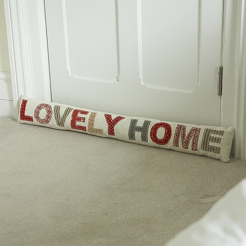 "Patchwork ""Lovely Home"" Draft Excluder"