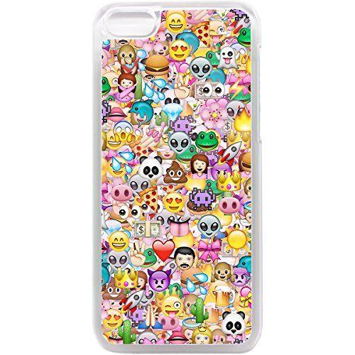 iPhone 5C Motif stickerbomb Emoji Coque motif smiley rétro funky icônes