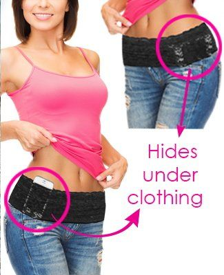 5 Pocket Lace Stretch Money Belt With Silicone Gripper Amp 5