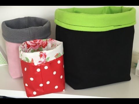 How To Make A Fabric Storage Caddy - YouTube