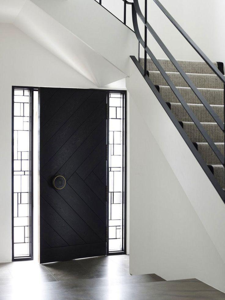 6 Ideas For Introducing Herringbone Patterns Into Your Interior Modern Front Door Front Door Design Entry Door Designs
