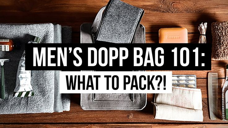 WHAT TO PACK FOR TRAVEL!?   MENS DOPP BAG 101: ESSENTIALS   JAIRWOO