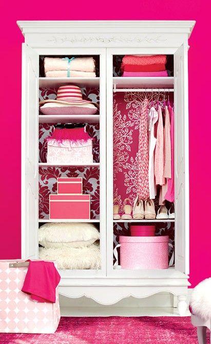 Make over your bedroom closet in four simple steps. #closet #closetorganizing