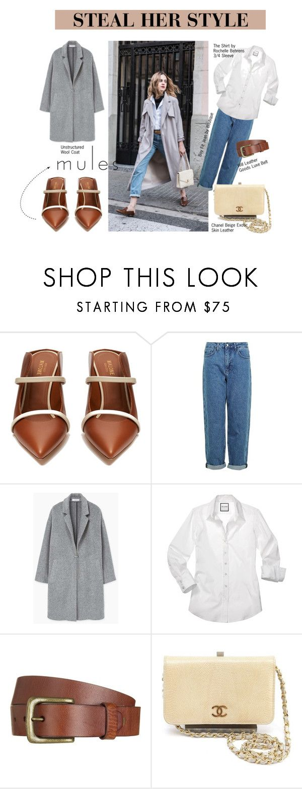 """""""STEAL HER STYLE x Mules"""" by meetyesintacin on Polyvore featuring Malone Souliers, Topshop, MANGO, Will Leather Goods and Chanel"""