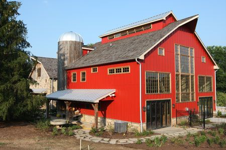 A 19th century barn gets another chance as this magnificent barn home in Carversville, PA. The silo houses an elevator!
