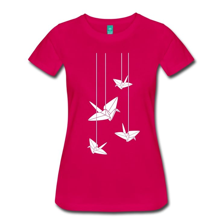 16 best t shirts images on pinterest origami cranes paper cranes hanging origami cranes womens premium t shirt white thecheapjerseys Gallery