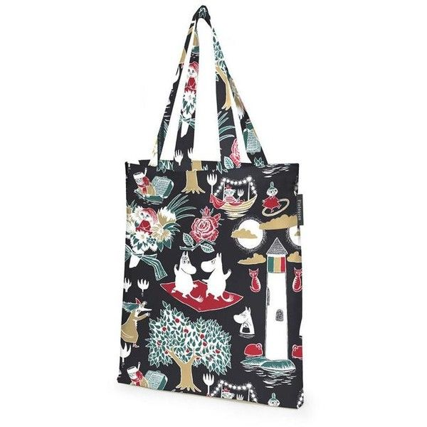 Magic Moomin shopping bag black by Finlayson The Official Moomin Shop (4.650 HUF) ❤ liked on Polyvore featuring bags, handbags, shopper tote handbags, shopper tote bag, shopper handbag, shopping bag and shopper purse