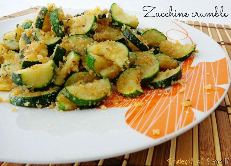 zucchine crumble ricetta contorno veloci di zucchine