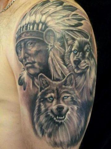 Profundo Significado De Los Tatuajes De Indios Y Lobos Tatuajes