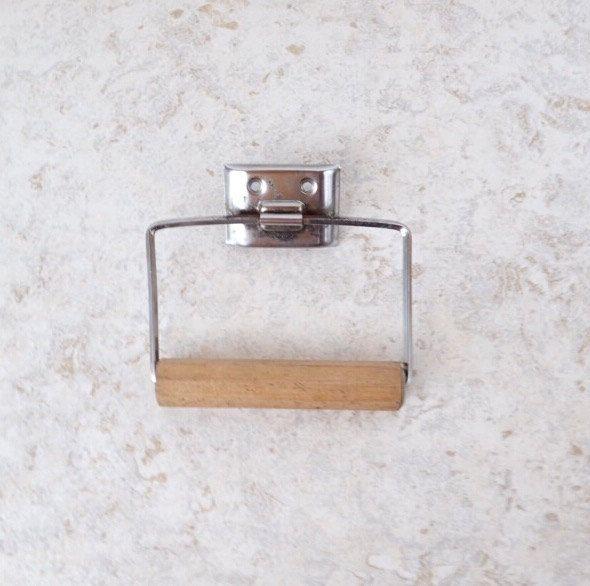 Bathroom Toilet Paper Holder Rustic Bath Rack Accessory Metal