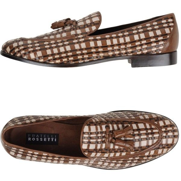 Fratelli Rossetti Moccasins ($210) ❤ liked on Polyvore featuring men's fashion, men's shoes, men's loafers, brown, mens brown loafer shoes, colorful mens shoes, mens tassel loafer shoes, mens loafer shoes and mens brown shoes