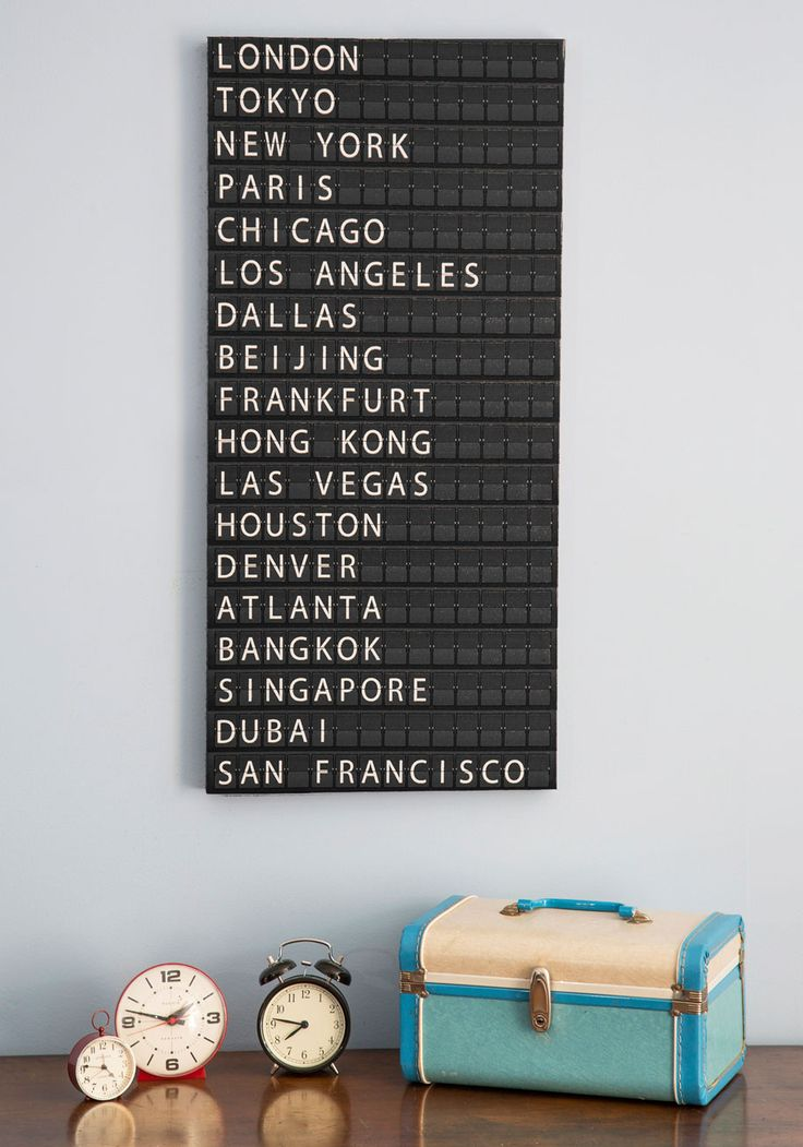 All Aboard Departure Sign. Infuse your pad with the energy and timelessness of Grand Central Station by adding this departure sign to your entryway! #brown #modcloth