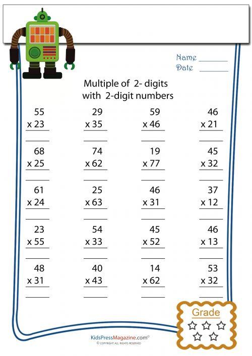 math worksheet multiplication